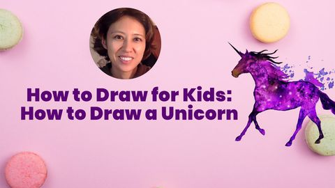 Kid Drawings: How to Draw a Unicorn Easy