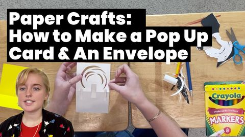 Paper Crafts: How to Make a Pop Up Card & An Envelope