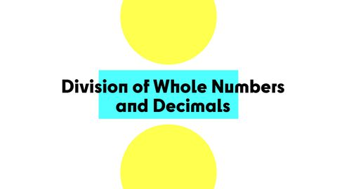 Division of Whole Numbers and Decimals