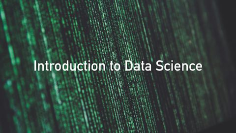 Introduction to Data Science: Intro to Excel