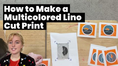 How to Make a Multicolored Linocut Print