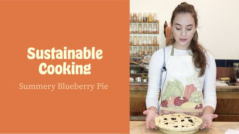 Sustainable Cooking: Summery Blueberry Pie
