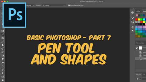 Adobe Photoshop, Part 7: Pen Tool and Shapes