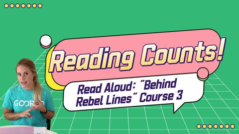 "Interactive Read Aloud: ""Behind Rebel Lines"" Course 3"