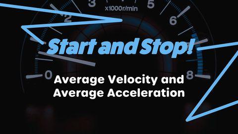 Average Acceleration and Velocity Formula