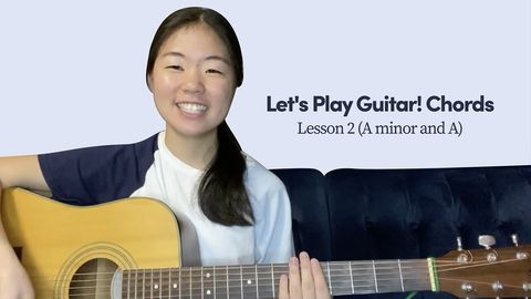 How to Play Guitar! A minor Chord and A Chord, Lesson 2
