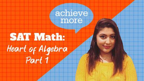 SAT Math: Algebra Nation, Part 1