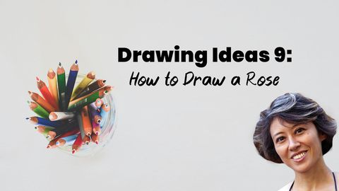 Drawing Ideas 9: Rose Drawing (How to Draw a Rose)
