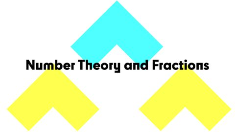 Number Theory and Fractions, Part 1