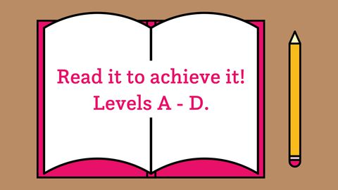 Read it to achieve it! Levels A-D