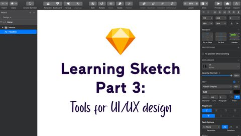 Learning Sketch, Part 3: Tools for UI/UX design