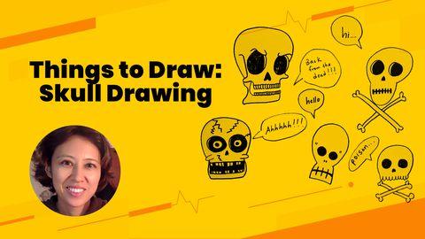 Random Things to Draw: Skull Drawing