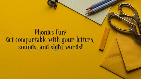 Phonics Fun: Get Comfortable With Your Letters, Sounds, and Sight Words!