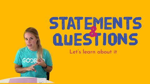 Statements and Questions! Let's Learn About It!