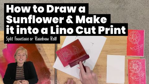 How to Draw a Sunflower & Make It Into a Lino Cut Print