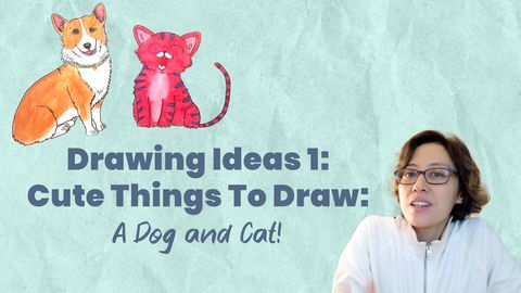 How To Draw A Dog and A Cat: Drawing Ideas 1
