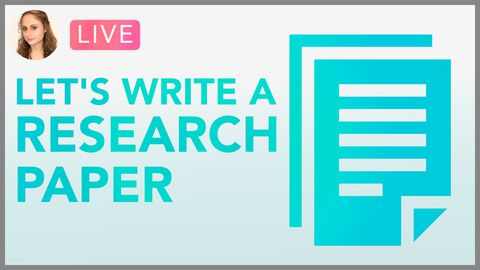 [Webinar] Let's Write a Research Paper