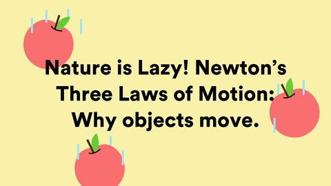 Nature Is Lazy! Newton's Three Laws of Motion: Why Objects Move