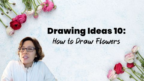 Drawing Ideas 10: Flower Drawing (How to Draw Flowers)