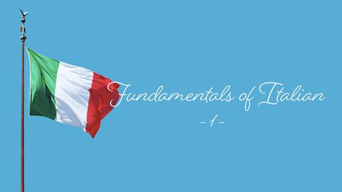 Hello in Italian: The Fundamentals Part 1
