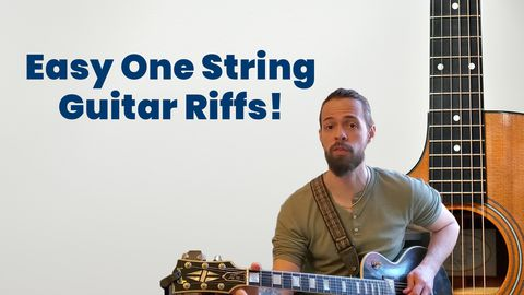 Guitar Riffs - Using Only One String!
