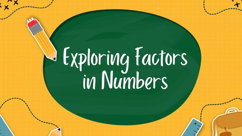 Exploring Factors in Numbers