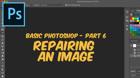 Adobe Photoshop, Part 6: Repairing an image
