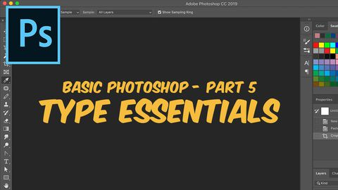 Adobe Photoshop, Part 5: Type Essentials